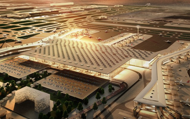 Istanbul Grand(3rd) Airport Main Terminal Building(1,450,000 sqm - 150 mpax)